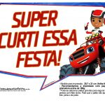 Plaquinhas divertidas Blaze and the Monster Machines 9