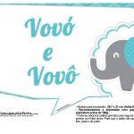 Plaquinhas divertidas Elefantinho Chevron Azul Turquesa 14
