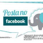 Plaquinhas divertidas Elefantinho Chevron Azul Turquesa 17