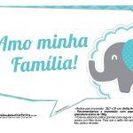 Plaquinhas divertidas Elefantinho Chevron Azul Turquesa 23