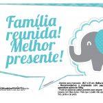 Plaquinhas divertidas Elefantinho Chevron Azul Turquesa 28