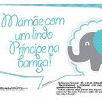 Plaquinhas divertidas Elefantinho Chevron Azul Turquesa 37