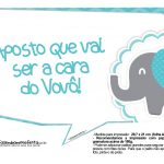 Plaquinhas divertidas Elefantinho Chevron Azul Turquesa 42