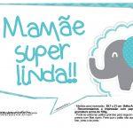 Plaquinhas divertidas Elefantinho Chevron Azul Turquesa 44