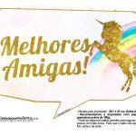 Plaquinhas divertidas Unicornio