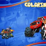 Revista Colorindo Blaze and the Monster Machines Kit Festa