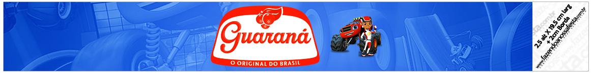 Rótulo Guarana Caculinha Blaze and the Monster Machines
