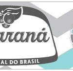 Rótulo Guaraná Caculinha Elefantinho Chevron Cinza e Azul Turquesa