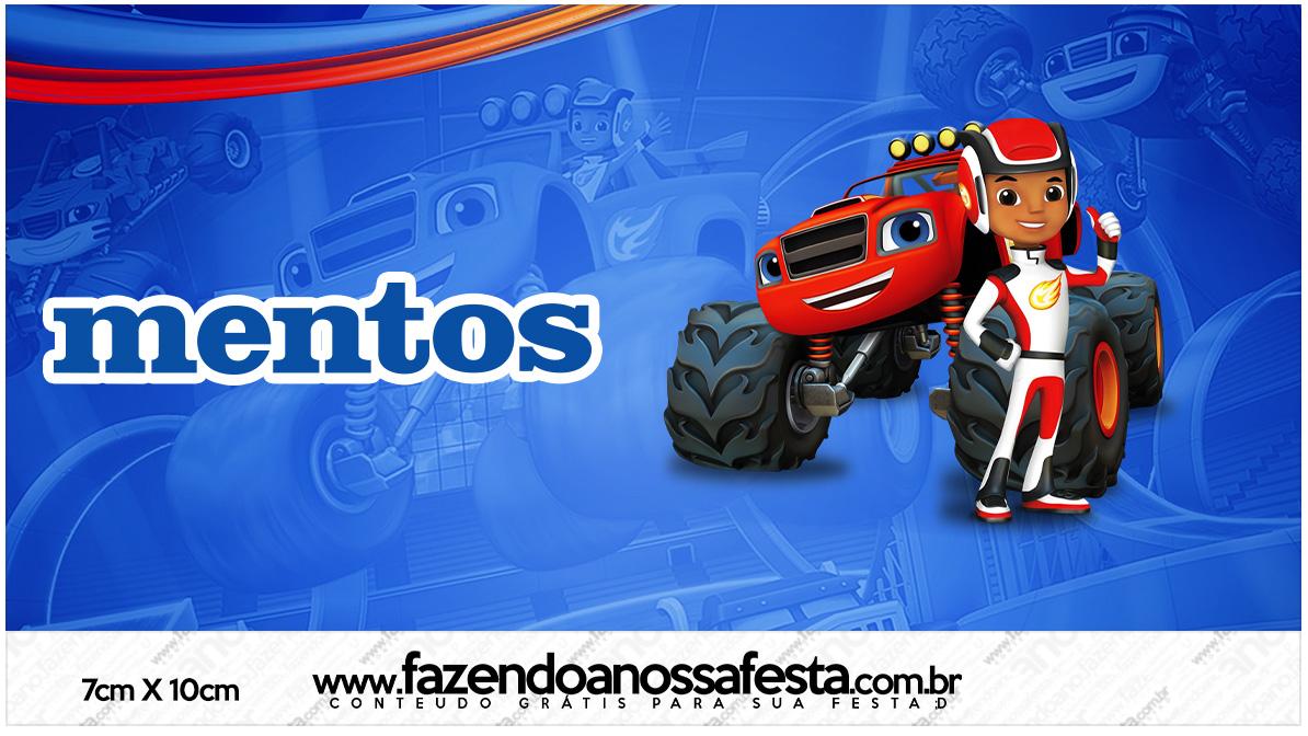 Rótulo Mentos Blaze and the Monster Machines