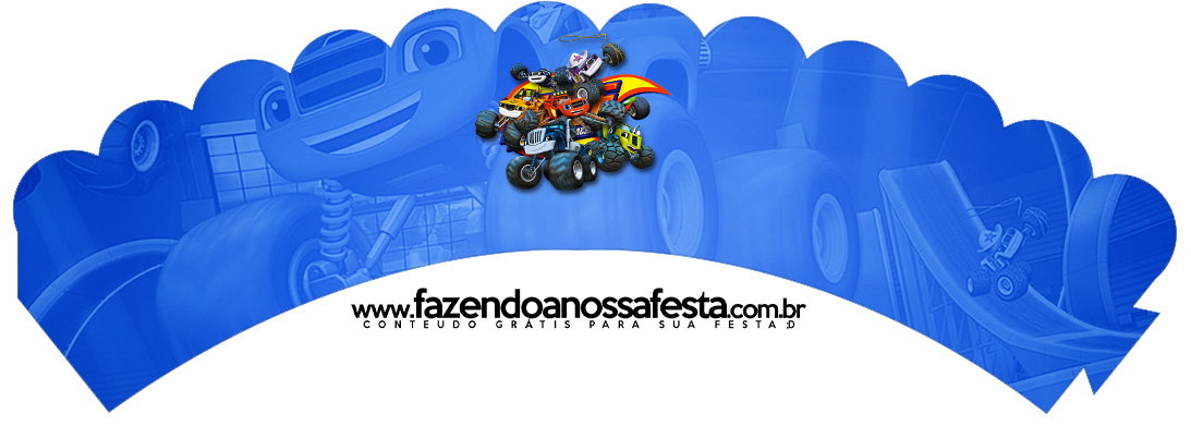 Saias Wrappers para Cupcakes 2 Blaze and the Monster Machines