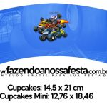 Saias Wrappers para Cupcakes Blaze and the Monster Machines Kit Festa