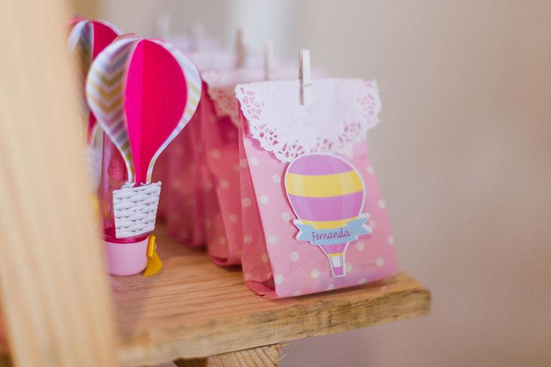 Saquinho de papel Festa Infantil Balões da Fernanda