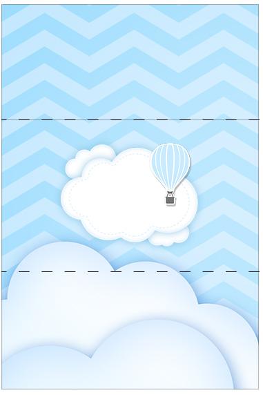 Bala Personalizada Balão de Ar Quente Azul