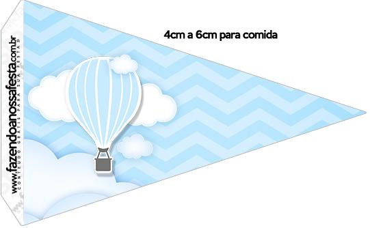 Bandeirinha Sanduiche 1 Balão de Ar Quente Azul