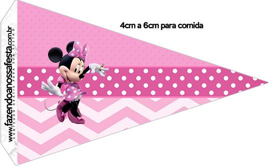 Bandeirinha Sanduiche 1 Minnie Rosa
