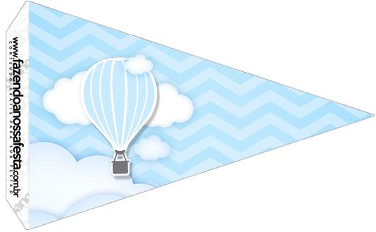 Bandeirinha Sanduíche 2 Balão de Ar Quente Azul