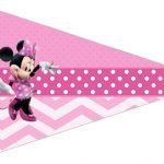 Bandeirinha Sanduiche 2 Minnie Rosa