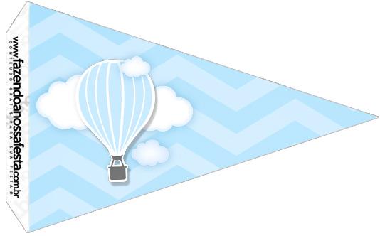 Bandeirinha Sanduíche 3 Balão de Ar Quente Azul