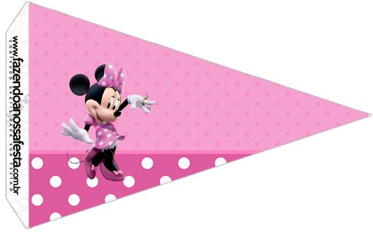 Bandeirinha Sanduiche 3 Minnie Rosa