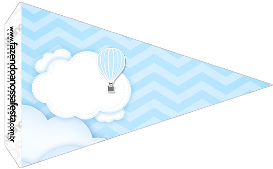 Bandeirinha Sanduíche 5 Balão de Ar Quente Azul