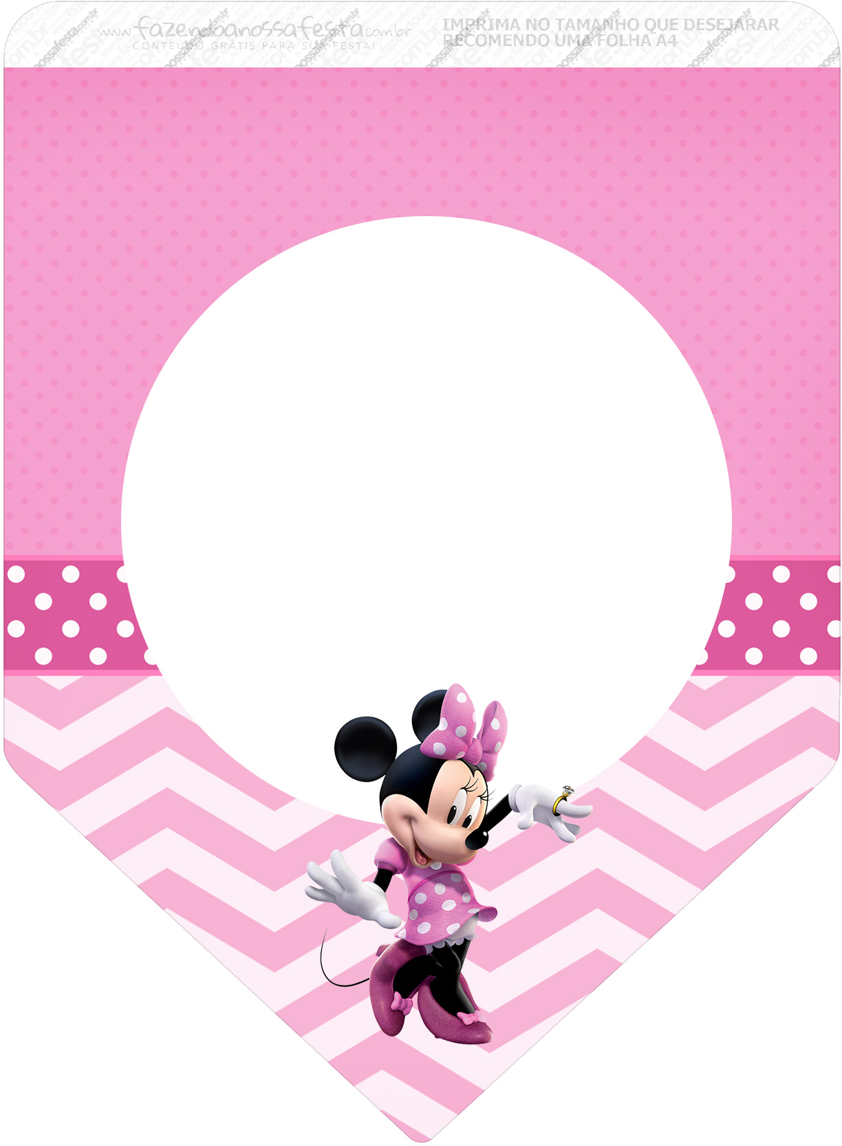 Bandeirinha Varalzinho 3 Minnie Rosa