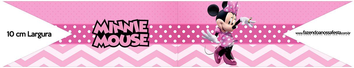 Bandeirinha para Sanduiche Minnie Rosa