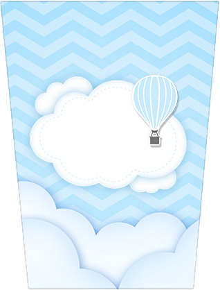 Bisnaga Brigadeiro Balão de Ar Quente Azul