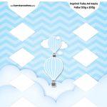 Caixa Bala Balão de Ar Quente Azul