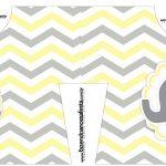 Caixa Camisa Elefantinho Chevron Amarelo e Cinza