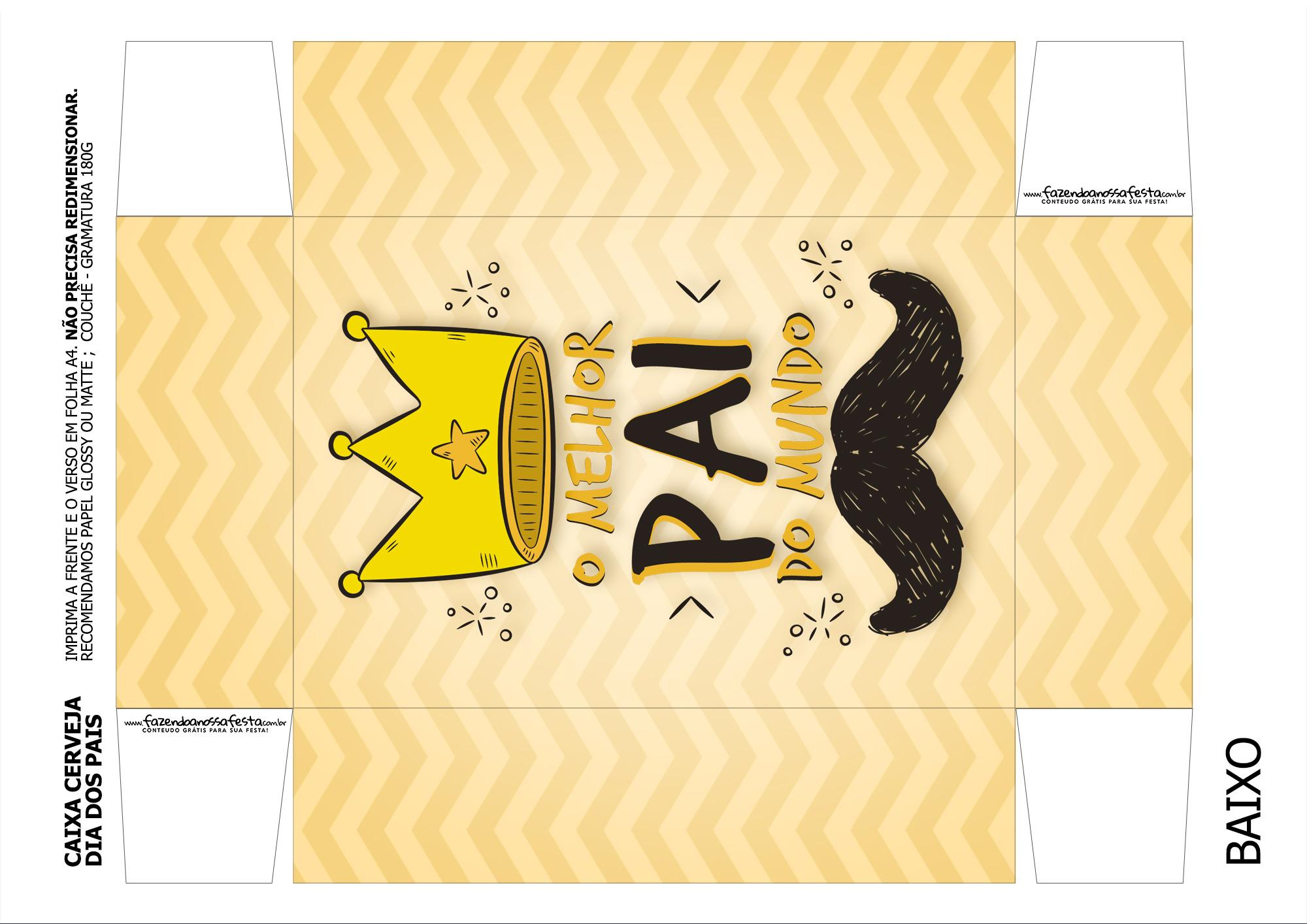 Caixa Cerveja Dia dos Pais Melhor Pai do Mundo Coroa 1