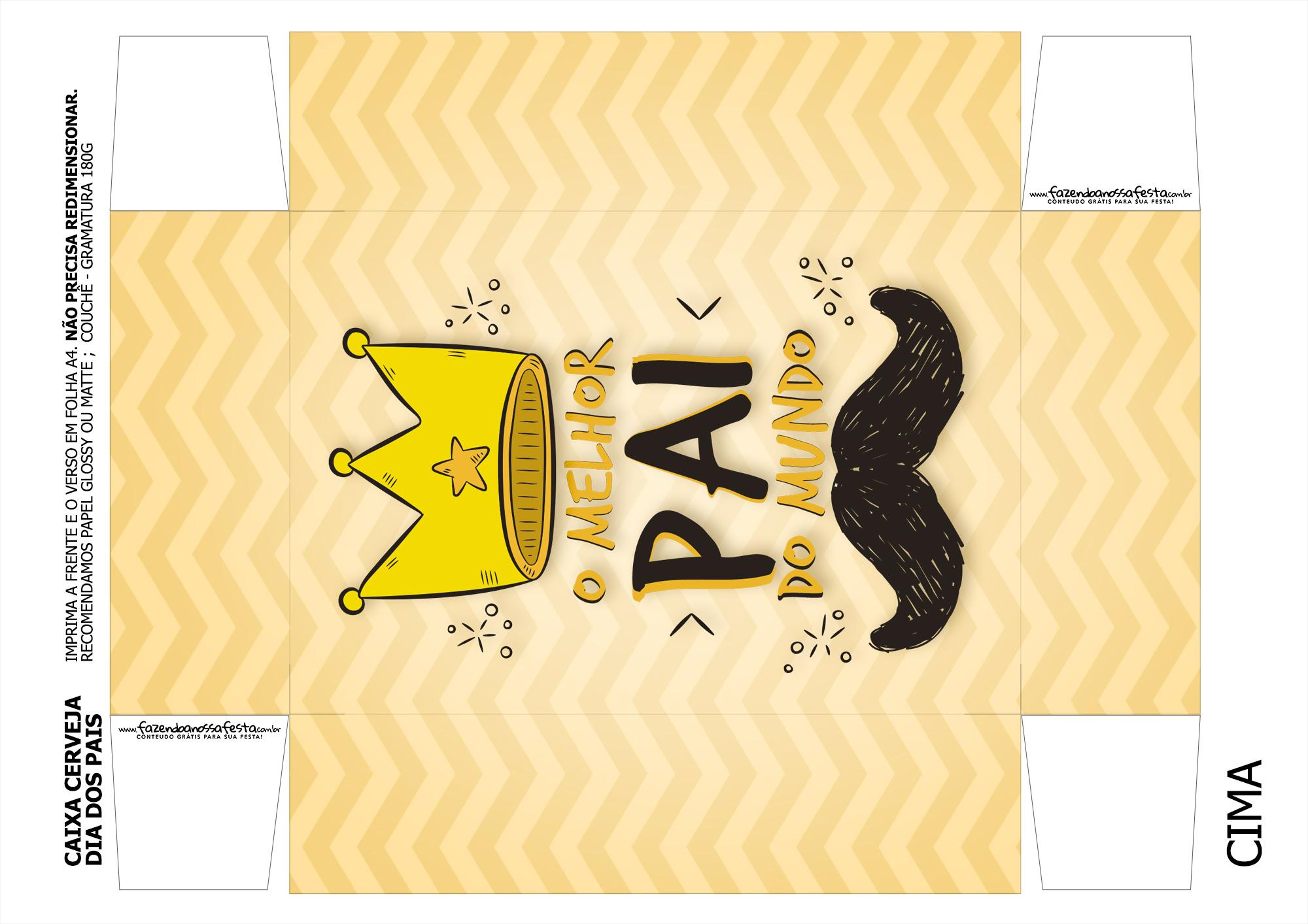 Caixa Cerveja Dia dos Pais Melhor Pai do Mundo Coroa 3