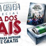 Caixa Cerveja para Dia dos Pais Vários Modelos para Imprimir