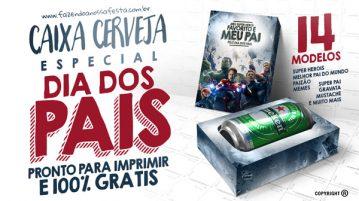 Caixa Cerveja para Dia dos Pais