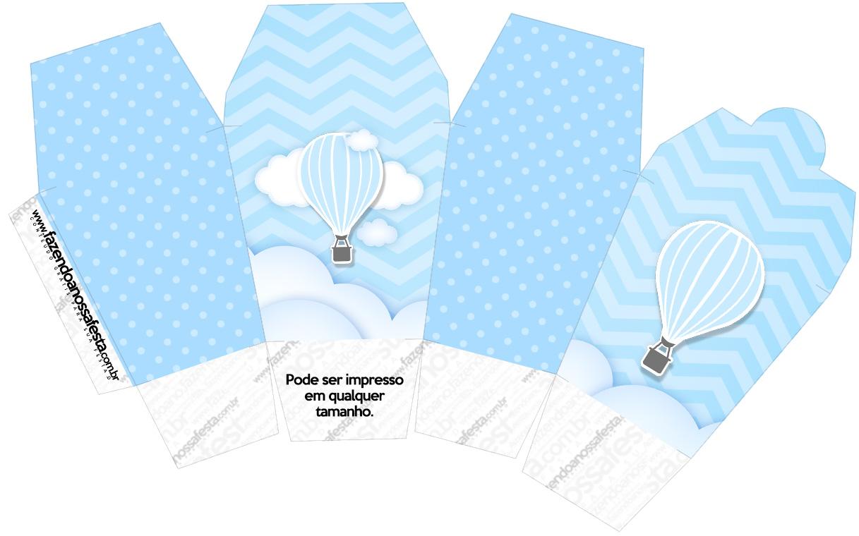Caixa China in Box Balão de Ar Quente Azul