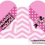 Caixa Coração Minnie Rosa