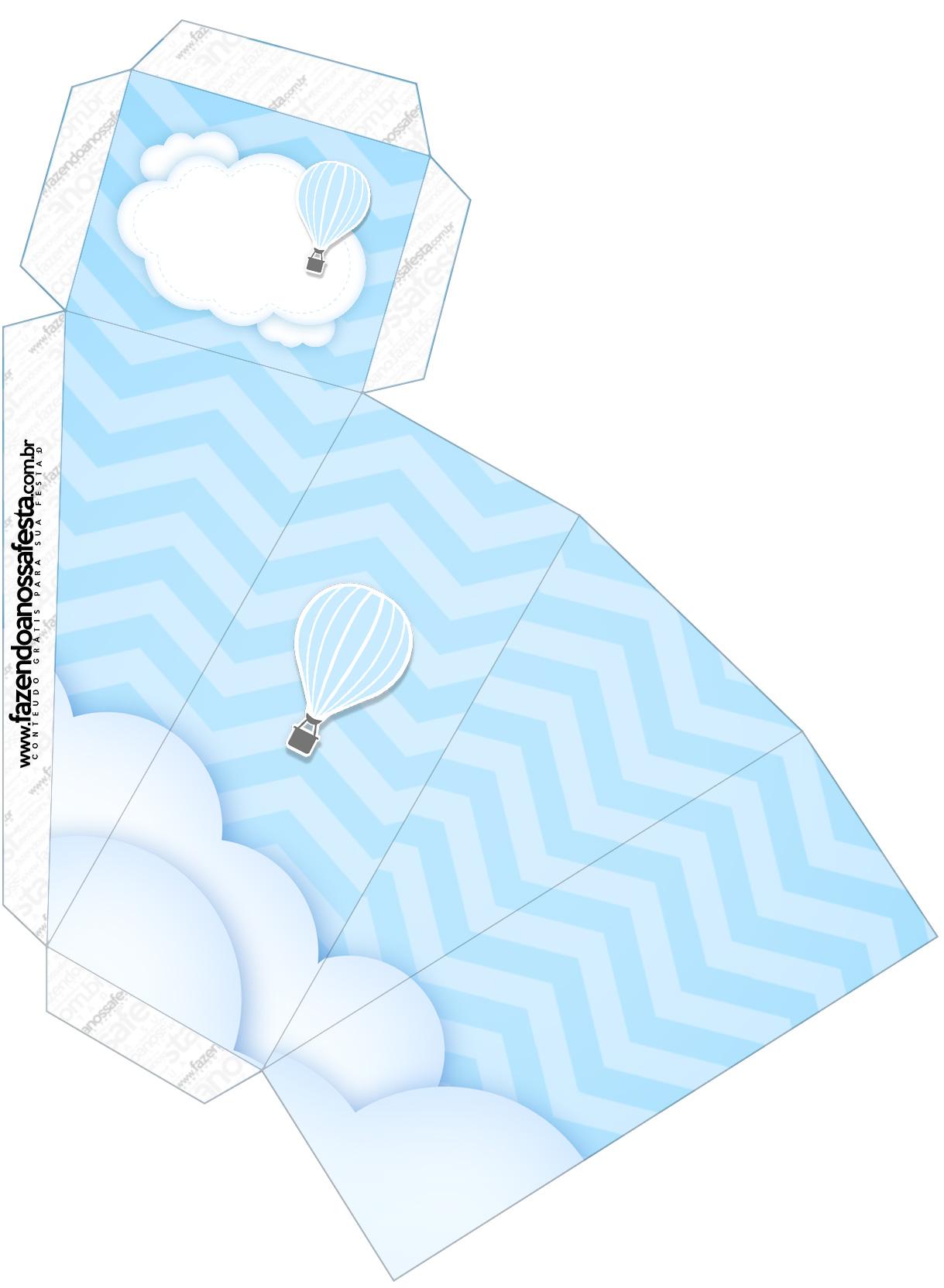 Caixa Fatia Balão de Ar Quente Azul