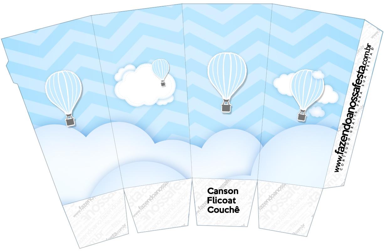 Caixa Pipoca Balão de Ar Quente Azul