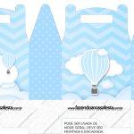 Caixa bombom Balão de Ar Quente Azul