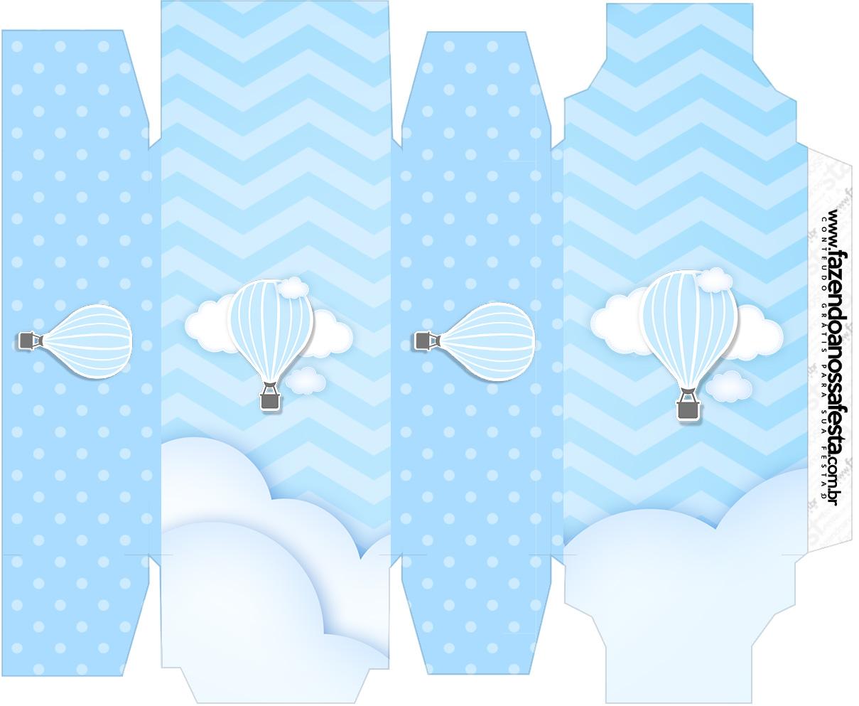 Caixa sabonete Balão de Ar Quente Azul