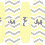 Caixa sabonete Elefantinho Chevron Amarelo e Cinza