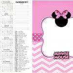 Calendário 2017 2 Minnie Rosa