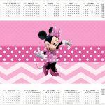 Calendário 2017 Minnie Rosa