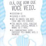 Cartão Agradecimento Quadro Balão de Ar Quente Azul Kit Festa