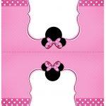 Cartão Agradecimento de mesa Minnie Rosa