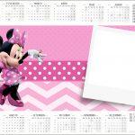 Convite Calendário 2017 Minnie Rosa