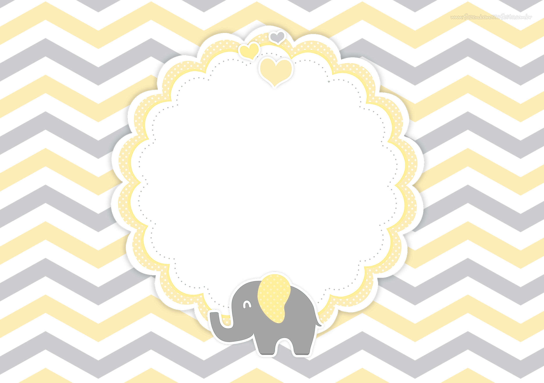 Convite Digital Elefante Amarelo 3