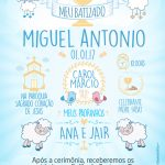 Convite Quadro Batizado Menino Preenchido