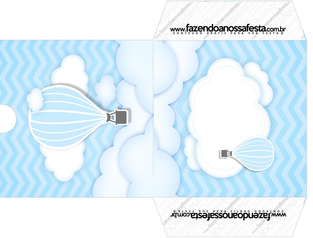 Envelope CD DVD Balão de Ar Quente Azul