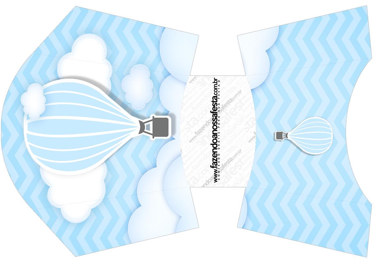 Envelope Fritas Balão de Ar Quente Azul