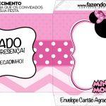 Envelope do Cartão Agradecimento Minnie Rosa